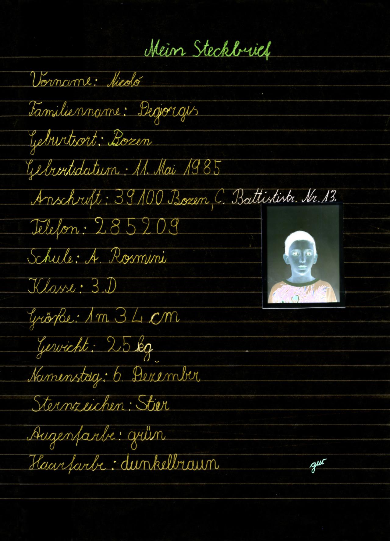 Nicolò Degiorgis Heimatkunde, 1993-1995